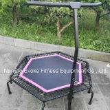 Gymnastic Rebounder Fitness Trampoline com Handle Bar