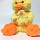 قطيفة صفراء نمط قطيفة [موم] وطفلة ليّنة عادة لعبة