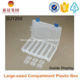 Grande boîte en plastique claire de compartiment