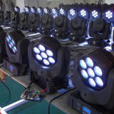 testa mobile dell'indicatore luminoso LED della fase del fascio di 7X12W DMX mini