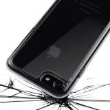 Les caisses protectrices claires résistantes de brouillon de butoir de l'absorption de choc TPU couvrent dur pour l'iPhone 7 d'Apple