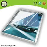 Quattro-Lato fatto blocco per grafici aperto blocco per grafici di alluminio sottile LED casella chiara