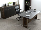 새로운 디자인 가죽 (V6)를 가진 현대 금속 사무실 테이블