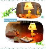 Nettes Schreibtisch-Licht des Harz-Karikatur-Dekoration-Kind-Schlafzimmer-Geburtstag-LED