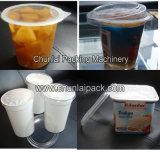 Enchimento do copo e máquina quadrados da selagem