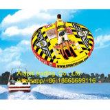 Barco de plátano inflable redondo de los pescados de vuelo