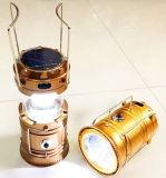 옥외 접을 수 있는 LED 재충전용 태양 야영 손전등