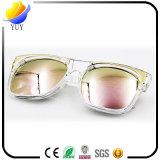 Europa y la sección de la estrella de Estados Unidos de las gafas de sol ULTRAVIOLETA de la protección de la película de color del metal