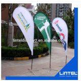 Pubblicità della visualizzazione di alluminio della bandierina della piuma di volo della fiera commerciale del Flagpole
