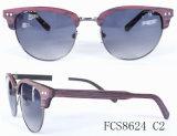 De het ovale Metaal & Acetaat van de Vorm met Ce voor de Zonnebril van Eyewear van Vrouwen