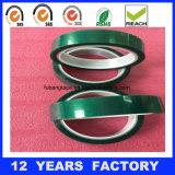 cinta verde de enmascarado da alta temperatura del animal doméstico de 0.07m m