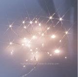 Batteriebetriebenes Miniture LED Draht-Innenweihnachtsdekorative Zeichenkette-Beleuchtung mit Timer