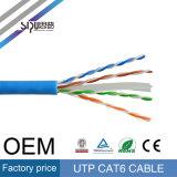 Sipu 4 accoppiamenti scopre il cavo di lan di rame del conduttore UTP CAT6