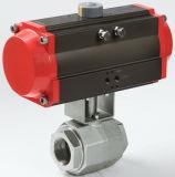 Válvula de esfera hidráulica do controle de alta pressão do atuador pneumático