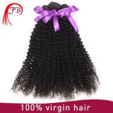 加工されていない人間の毛髪のねじれた巻き毛のバージンのRemyのブラジルの毛の拡張