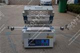 Forno de tubo de sinterização de duas zonas com operação de gás de 3 canais