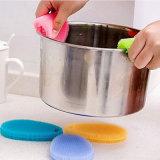 Escovas de limpeza de sabonete de pratos de silicone Acessórios de cozinha