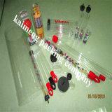 ハンドル(ギフトの管)が付いているパッケージの装飾のための実質の工場提供の非常に印刷された明確なプラスチックギフトの管