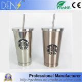copo da palha de Starbucks do aço 450ml inoxidável