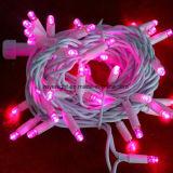RoHS et lumières en caoutchouc de chaîne de caractères de Noël DEL de la chaîne de caractères IP44 de lumière de jeu de la CE DEL