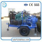 Pomp van de Drainage van de Dieselmotor van de Stroom van de mengeling de Centrifugaal voor Verkoop