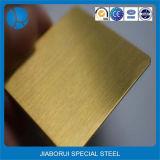 Chapa de aço inoxidável da cor da linha fina do ouro de Rosa