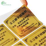 Custom Hot Sale Gold Silver Foil Hot Stamping Hologram Sticker (KG-PA038)