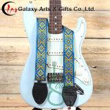 大きさはギターのアクセサリのための多色刷りのエレキギターストラップとのプリントロゴをカスタム設計する