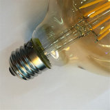 lampada ambrata della lampadina del filamento del coperchio LED di 2W 4W 6W 8W