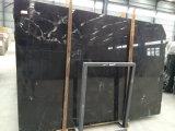 Mattonelle di legno Polished della parete del pavimento del marmo del nero del grano tagliate traversa calda