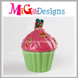 Projeto do Cup-Cake para o banco Piggy de material cerâmico das meninas