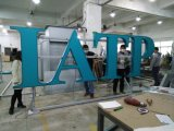 Segno acrilico di pubblicità fissato al muro delle lettere degli alloggiamenti di alluminio del metallo