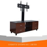 Soporte usado muebles de madera simples del vidrio TV de los soportes del LCD TV con el cajón 2
