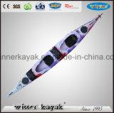 Sem inflável e LLDPE / HDPE Material Casco Duplo Oceano Kayak