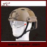 Боя шлема безопасности Airsoft шлем быстрого тактического Pj воинский с ясным забралом