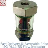 Mirilla Indicadores de flujo de tubo con Rotor