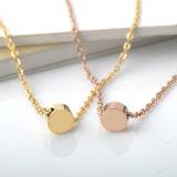 ステンレス鋼の宝石類の方法は金の文字のペンダントのネックレスをつなぐ