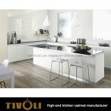 Mat polijst de Kleine Keuken van de Lak met Witte Deur en Zwarte Benchtop tivo-0239h