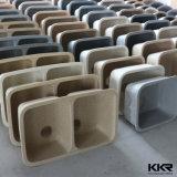 Раковина Undermount кухни квадратного одиночного шара Kkr твердая поверхностная