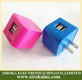 Nós carregador móvel duplo universal de dobramento do curso do USB do plugue para Smartphone