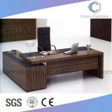 Vector ejecutivo de madera del encargado del escritorio de la oficina moderna de los muebles