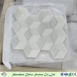 Плитка мозаики мрамора косоугольника плитки мозаики новой конструкции востоковедная белая мраморный