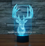 Света цветастого касания СИД визуально, декоративный свет ночи СИД 3D для подарка дня рождения