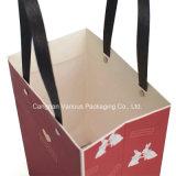 ギフトのためのカスタムデザインのクラフト紙袋、洗濯物入れ袋