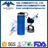 De Goedkope Fles van uitstekende kwaliteit van het Water van het Metaal van de Prijs met het Handvat van de Kabel