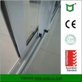 Portello scorrevole di profilo di alluminio con vetro Tempered fatto in Cina