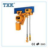 Txk 제안 낮은 헤드룸 트롤리를 가진 2 톤 전기 체인 호이스트