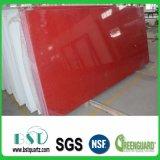 Faísca vermelha lajes de pedra projetadas de quartzo
