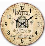 Reloj de pared de madera de Ministerio del Interior del estilo antiguo