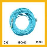 LC al cavo ottico della fibra duplex del Aqua Om3 del PVC di LC